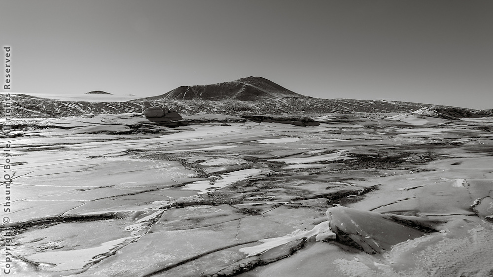Ice terrain along the sea edge.
