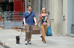 Actress Claire Danes strolls in Soho with her boyfriend Billy Crudup, in New York, NY, on August 13, 2006. Photo by Antoine Cau/ABACAPRESS.COM  | 103491_01 USA