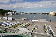 Poznan. Poland.General view of trhe rowing course,  FISA 2015 European Rowing Championships. Venue Lake Malta. 28.05.2015. [Mandatory Credit: Peter Spurrier/Intersport-images.com]