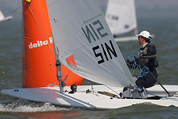 Laser. Medemblik - the Netherlands, May 22nd 2012. Delta Lloyd Regatta in Medemblik (22/26 May 2012). Day 1.