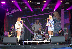 Bjorn Again play the main stage. Sunday at Party at the Palace 2017, Linlithgow.