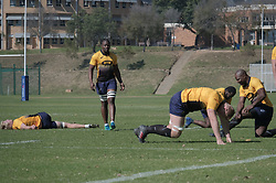 JOHANNESBURG, SOUTH AFRICA MAY 28: Springbok rugby players during training on 28 May 2018 in Johannesburg South Africa. Both Pieter-Steph du Toit and Siya Kolisi were announced by Springboks coach Rassie Erasmus as captains ahead of upcoming international games against Wales and England, the Springbok captaincy is a first for both players. They attended a training session with the Springbok rugby squad and coaching staff at St Stithians School. (Photo by Dino Lloyd)