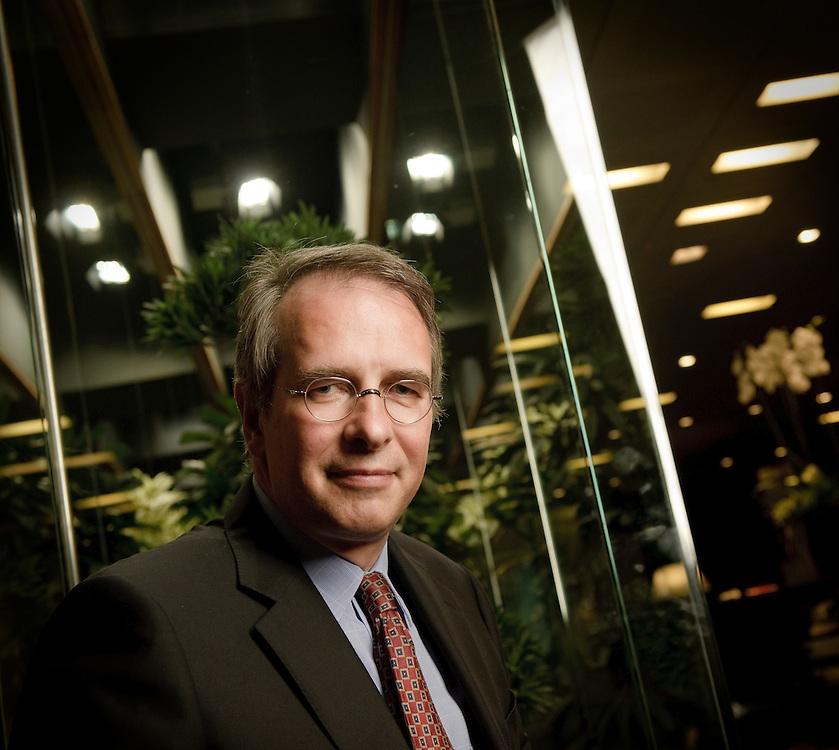 Brussels, Belgium 22 July 2009<br /> Pierre Francotte CEO Euroclear.<br /> Photo: Ezequiel Scagnetti