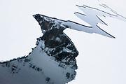 Geometric ice pattern on the water ,Svalbard, Norway