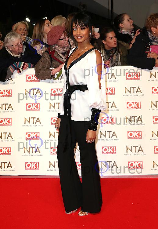 Alesha Dixon, National Television Awards, The O2 , London UK, 25 January 2017, Photo by Richard Goldschmidt