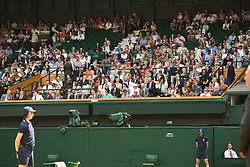 July 7, 2018 - London, London, United Kingdom - Wimbledon Tennis Championships-Day Six. Guest seated in the Royal Box to watch the action on Centre court on Day Six of the Wimbledon Tennis Championships. (Credit Image: © Andrew Parsons/i-Images via ZUMA Press)