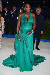 Serena Williams arriving at The Metropolitan Museum of Art Costume Institute Benefit celebrating the opening of Rei Kawakubo / Comme des Garcons : Art of the In-Between held at The Metropolitan Museum of Art  in New York, NY, on May 1, 2017. (Photo by Anthony Behar) *** Please Use Credit from Credit Field ***