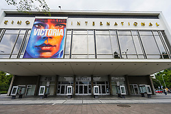 Exterior view of historic Kino International cinema in former East Berlin on Karl Marx Avenue in Berlin Germany