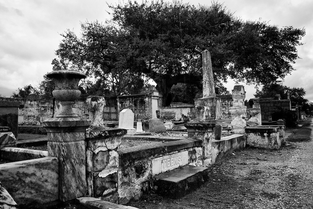Cypress Grove Cemetery was established in 1840 and became the first cemetery built to honor New Orleans volunteer firemen and their families. It's filled with beautiful marble, granite, and cast iron tombs and has several remaining cypress tress along with a few magnolias and moss-hung oak trees. Cypress Grove Cemetery is located at the end of Canal Street at 124 City Park Avenue.