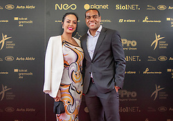 Marcos Tavares and his wife during SPINS XI Nogometna Gala 2019 event when presented best football players of Prva liga Telekom Slovenije in season 2018/19, on May 19, 2019 in Slovene National Theatre Opera and Ballet Ljubljana, Slovenia. ,Photo by Urban Meglic / Sportida