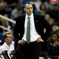 April 3, 2011; New Orleans, LA, USA; Indiana Pacers head coach Frank Vogel against the New Orleans Hornets during the fourth quarter at the New Orleans Arena. The Hornets defeated the Pacers 108-96.  Mandatory Credit: Derick E. Hingle