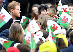 Prince Harry and Meghan Markle visit Cardiff Castle on a day showcasing the culture and heritage of Wales in Cardiff, Wales, UK, on the 18th January 2018. 18 Jan 2018 Pictured: Prince Harry. Photo credit: James Whatling / MEGA TheMegaAgency.com +1 888 505 6342