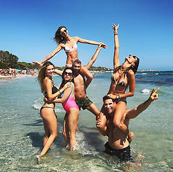"""Alessandra Ambrosio releases a photo on Instagram with the following caption: """"It's on \ud83d\udd1b\u2600\ufe0f\ud83d\udc95\ud83d\udca6\u270c\ufe0f #magicalisland #foreveronvacation #Ibiza"""". Photo Credit: Instagram *** No USA Distribution *** For Editorial Use Only *** Not to be Published in Books or Photo Books ***  Please note: Fees charged by the agency are for the agency's services only, and do not, nor are they intended to, convey to the user any ownership of Copyright or License in the material. The agency does not claim any ownership including but not limited to Copyright or License in the attached material. By publishing this material you expressly agree to indemnify and to hold the agency and its directors, shareholders and employees harmless from any loss, claims, damages, demands, expenses (including legal fees), or any causes of action or allegation against the agency arising out of or connected in any way with publication of the material."""