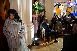 """Aretha Franklin prepares to perform during """"The Gospel Tradition: In Performance at the White House"""" in the East Room of the White House, April 14, 2015. (Official White House Photo by Pete Souza)<br /> <br /> This official White House photograph is being made available only for publication by news organizations and/or for personal use printing by the subject(s) of the photograph. The photograph may not be manipulated in any way and may not be used in commercial or political materials, advertisements, emails, products, promotions that in any way suggests approval or endorsement of the President, the First Family, or the White House."""