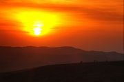 Africa, Ethiopia, the Simien Mountains National Park, at sunset
