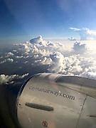 Grand Cayman. Aboard an Cayman Airways Boeing 737.
