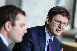 May 19, 2017 - Darlington, County Durham, United Kingdom - Image ©Licensed to i-Images Picture Agency. 19/05/2017. Darlington, United Kingdom. Secretary of State for Business, Greg Clark visits Darlington with Darlington Parliamentary Candidate, Peter Cuthbertson, pictured left. Picture by Tom Banks / i-Images (Credit Image: © Tom Banks/i-Images via ZUMA Press)