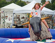 Mechanical bull at the Ludwig's Corner Horse Show.