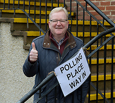 Scottish Conservatives Jackson Carlaw votes, Glasgow, 12 December 2019