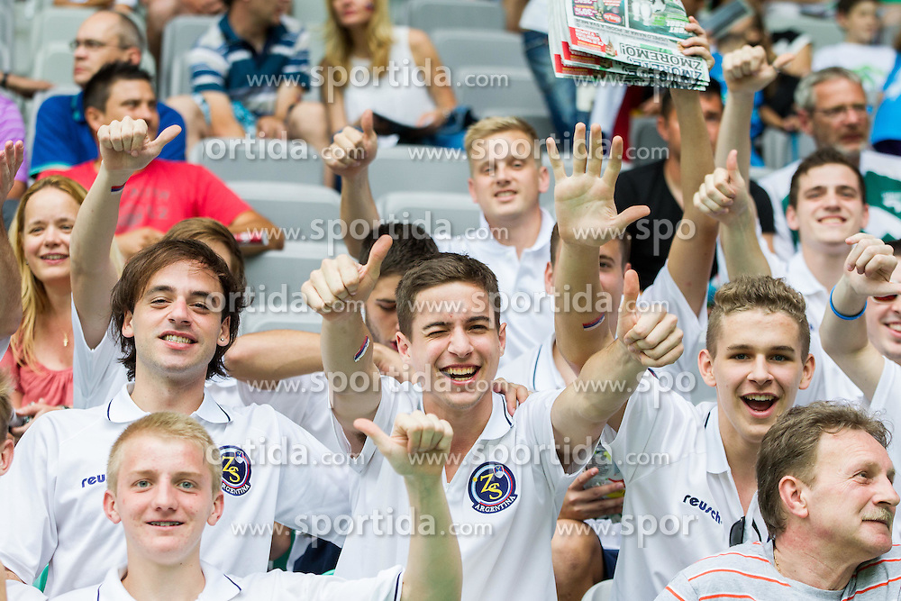 Supporters of Slovenia from Argentina during the EURO 2016 Qualifier Group E match between Slovenia and England at SRC Stozice on June 14, 2015 in Ljubljana, Slovenia. Photo by Vid Ponikvar / Sportida