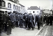 officials and police during an official event France 1950s