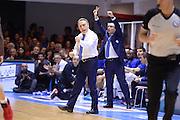 DESCRIZIONE : Brindisi  Lega A 2015-16 Enel Brindisi Olimpia EA7 Emporio Armani Milano<br /> GIOCATORE : Piero Bucchi<br /> CATEGORIA : Ritratto Esultanza Mani Allenatore Coach<br /> SQUADRA : Enel Brindisi<br /> EVENTO : Enel Brindisi Olimpia EA7 Emporio Armani Milano <br /> GARA :Enel Brindisi Olimpia EA7 Emporio Armani Milano<br /> DATA : 10/04/2016<br /> SPORT : Pallacanestro<br /> AUTORE : Agenzia Ciamillo-Castoria/M.Longo<br /> Galleria : Lega Basket A 2015-2016<br /> Fotonotizia : Enel Brindisi Olimpia EA7 Emporio Armani Milano<br /> Predefinita :
