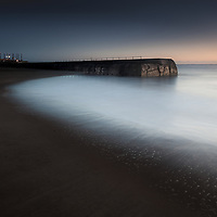 A chilly clear morning just before sun-up at Gorleston