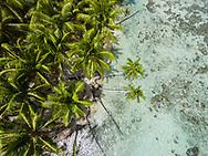 Aerial photograph of Motu Miri Miri, Raiatea, French Polynesia