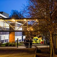 Kristiansand  20161205.<br /> To personer skal være knivstukket ved Wilds Minne skole i Kristiansand.<br /> Foto: Tor Erik Schrøder / NTB scanpix