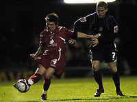 Photo: Olly Greenwood/Sportsbeat Images.<br />Southend United v Swindon Town. Coca Cola League 1. 08/12/2007. Southend's Mark Gower and Swindon's Chris Allen