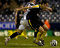 Photo: Matt Bright/Richard Lane Photography.<br /> West Bromwich Albion v Cardiff City. Coca Cola Championship. 19/01/2008. <br /> Roman Bednár of West Bromwich Albion & Peter Whittingham of Cardiff