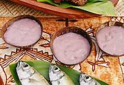 Fish and poi, Luau, Hawaii