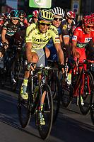 Spanish cyclist Alberto Contador of Tinkof Saxo team during the last stage or La Vuelta of Spain in Madrid. September 10, 2016. (ALTERPHOTOS/Rodrigo Jimenez)