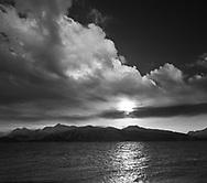 An Alaskan Sunset Taken From The End Of The Spit At Homer Alaska, Kenai Peninsula, USA