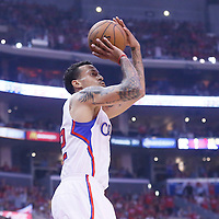 21 April 2014: Los Angeles Clippers forward Matt Barnes (22) takes a jump shot during the Los Angeles Clippers 138-98 victory over the Golden State Warriors, during Game Two of the Western Conference Quarterfinals of the NBA Playoffs, at the Staples Center, Los Angeles, California, USA.