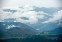 Clearing rain clouds over Jackson and the Gros Ventre Mountains