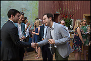 ELLIOT MACDONALD; CLAUS ROBENHAGEN; JOSH SPERO, Drinks party to launch this year's Frieze Masters.Hosted by Charles Saumarez Smith and Victoria Siddall<br />  Academicians' room - The Keepers House. Royal Academy. Piccadilly. London. 3 July 2014