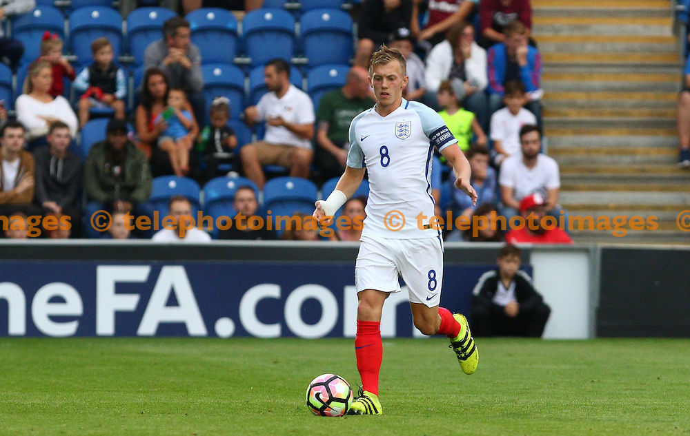 James Ward-Prowse of England during the UEFA European U21 Championship match between England U21 and Norway U21 at the Weston Homes Community Stadium in Colchester. September 6, 2016.<br /> Arron Gent / Telephoto Images<br /> +44 7967 642437