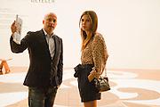 SAM KELLER; DASHA ZHUKOVA, Opening of Art Basel Miami Beach. Convention Centre.  Miami Beach. 30 November 2010. -DO NOT ARCHIVE-© Copyright Photograph by Dafydd Jones. 248 Clapham Rd. London SW9 0PZ. Tel 0207 820 0771. www.dafjones.com.