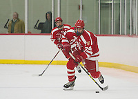 SPS boys varsity Hockey with Belmont Hill.  ©2017 Karen Bobotas Photographer