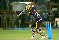 April 18, 2018 - Jaipur, Rajasthan, India - Kolkata Knight Riders batsman Nitish Rana plays a shot during the IPL T20 match against Rajasthan Royals at Sawai Mansingh Stadium in Jaipur on 18 April,2018.(Photo By Vishal Bhatnagar/NurPhoto) (Credit Image: © Vishal Bhatnagar/NurPhoto via ZUMA Press)