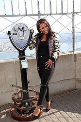 October 19, 2016 - New York, New York, United States - Actress Christina Milian promotes the new movie 'The Rocky Horror Picture Show' at the top of the Empire State Building on October 19 2016 in New York City  (Credit Image: © Serena Xu/Ace Pictures via ZUMA Press)