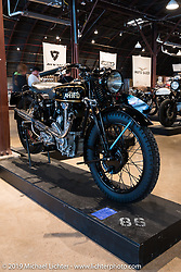 1932 HRD 500 on Sunday at the Handbuilt Motorcycle Show. Austin, TX. April 12, 2015.  Photography ©2015 Michael Lichter.