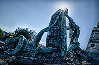 Monument to Evaristo Churruca in Getxo, Spain. Composite of 3 images taken with a Leica X2 camera (ISO 100, 24 mm, f/14). Raw images processed with HDR Efex Pro, Capture One Pro, and Photoshop CC.