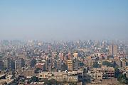 Cityscape of Cairo taken from the Citadel, Al Abageyah, El-Khalifa, Cairo Governate, Egypt.