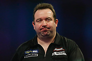 Brendan Dolan walking off the stage during the World Darts Championships 2018 at Alexandra Palace, London, United Kingdom on 29 December 2018.