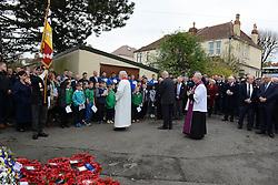 Memorial Service at the Memorial Gates - Mandatory byline: Dougie Allward/JMP - 07966 386802 - 11/11/2015 - Memorial Stadium - Bristol, England- Memorial Service
