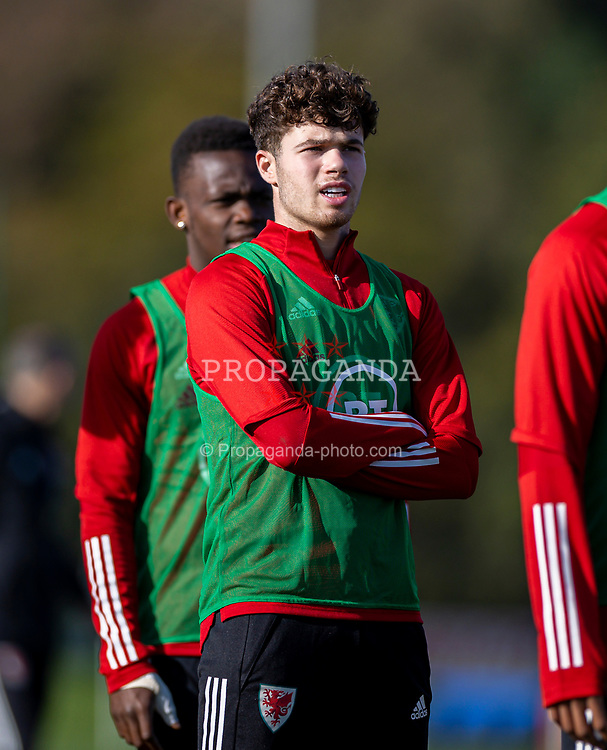 CARDIFF, WALES - Wednesday, October 7, 2020: Wales' Neco Williams during a training session at the Vale Resort ahead of the International Friendly match against England. (Pic by David Rawcliffe/Propaganda)