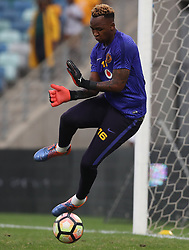 Brilliant Khuzwayo G/K of Kaizer Chiefs during the 2016 Premier Soccer League match between Kaizer Chiefs and Ajax Cape Town held at the Moses Mabhida Stadium in Durban, South Africa on the 24th September 2016<br /> <br /> Photo by:   Steve Haag / Real Time Images