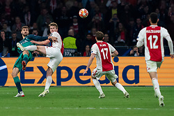 08-05-2019 NED: Semi Final Champions League AFC Ajax - Tottenham Hotspur, Amsterdam<br /> After a dramatic ending, Ajax has not been able to reach the final of the Champions League. In the final second Tottenham Hotspur scored 3-2 / Matthijs de Ligt #4 of Ajax, Daley Blind #17 of Ajax, Fernando Llorente #18 of Tottenham Hotspur